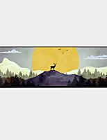 Недорогие -Холст в раме / Набор в раме - Пейзаж / Животные Пластик Иллюстрации