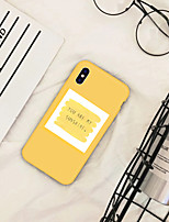 Недорогие -Кейс для Назначение Apple iPhone XR / iPhone XS Max С узором Кейс на заднюю панель Слова / выражения / Мультипликация Мягкий ТПУ для iPhone XS / iPhone XR / iPhone XS Max