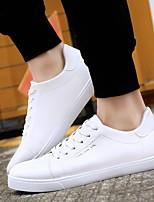 Недорогие -Муж. Комфортная обувь Полиуретан Весна & осень Кеды Белый / Черный