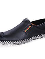 Недорогие -Муж. Кожаные ботинки Кожа Весна лето Мокасины и Свитер Ботинки Белый / Черный