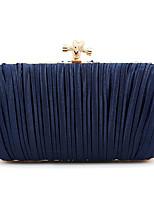 Недорогие -Жен. Мешки Полиэстер / Сплав Вечерняя сумочка Пуговицы Сплошной цвет Синий / Цвет шампанского / Черный