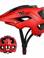 Недорогие -WEST BIKING® Взрослые Мотоциклетный шлем 13 Вентиляционные клапаны Ударопрочный Формованный с цельной оболочкой прибыль на акцию ПК Виды спорта На открытом воздухе Велосипедный спорт / Велоспорт -