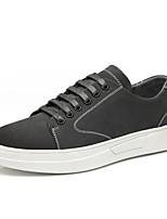 Недорогие -Муж. Комфортная обувь Свиная кожа Осень Кеды Черный / Желтый / Темно-серый