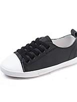 Недорогие -Девочки Обувь Кожа Весна & осень Удобная обувь Кеды для Дети / Для подростков Белый / Черный