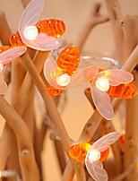 Недорогие -5 метров Гирлянды 40 светодиоды Тёплый белый Декоративная / обожаемый 220-240 V 1 комплект