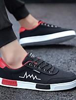 Недорогие -Муж. Комфортная обувь Полотно Весна Кеды Черно-белый / Черный / Красный / Черный / Желтый