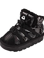 Недорогие -Девочки Обувь Синтетика Зима Удобная обувь / Зимние сапоги Ботинки для Для подростков Черный / Серый
