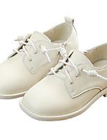 Недорогие -Девочки Обувь Кожа Весна & осень Удобная обувь Туфли на шнуровке для Дети / Для подростков Черный / Бежевый