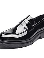 Недорогие -Муж. Официальная обувь Лакированная кожа Весна & осень Мокасины и Свитер Черный