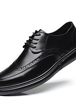 Недорогие -Муж. Кожаные ботинки Полиуретан Лето Мокасины и Свитер Для прогулок Ботинки Серый / Коричневый / Светло-серый