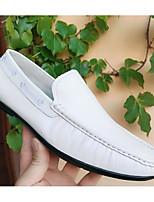 Недорогие -Муж. Мокасины Наппа Leather Лето Мокасины и Свитер Белый / Черный