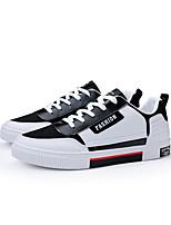 Недорогие -Муж. Комфортная обувь Полиуретан Весна Кеды Красный / Черно-белый / Белый / синий