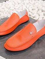 Недорогие -Муж. Комфортная обувь Полиуретан Весна & осень Мокасины и Свитер Белый / Черный / Оранжевый