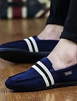 Недорогие -Муж. Комфортная обувь Хлопок Весна Мокасины и Свитер Черный / Красный / Синий