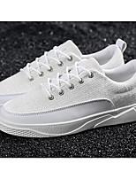 Недорогие -Муж. Комфортная обувь Лён Весна & осень Кеды Белый / Черный / Бежевый