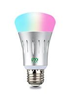 Недорогие -ywxlight®1pc 7 Вт 600-700lm RGB Амазонка эхо голос Wi-Fi приложение для смартфона пульт дистанционного управления светодиодные смарт-лампочки 85-265 В