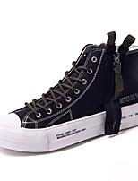 Недорогие -Муж. Комфортная обувь Полотно Весна & осень Кеды Черный