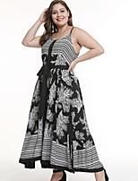 Недорогие -Жен. На выход Пляж Оболочка Платье V-образный вырез Макси