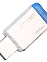 Недорогие -Kingston 64 Гб флешка диск USB USB 3.1 Металл Необычные Без шапочки-основы