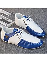 Недорогие -Муж. Комфортная обувь Искусственная кожа Весна Туфли на шнуровке Белый / Черный / Синий