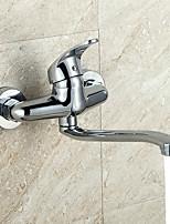 Недорогие -Ванная раковина кран - Широко распространенный Электропокрытие Другое Одной ручкой Два отверстияBath Taps