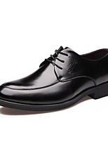 Недорогие -Муж. Официальная обувь Кожа Весна & осень Английский Туфли на шнуровке Черный / Коричневый