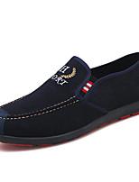 Недорогие -Муж. Комфортная обувь Полотно Осень Мокасины и Свитер Черный / Синий