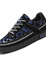Недорогие -Муж. Комфортная обувь Полиуретан Весна На каждый день Кеды Нескользкий Контрастных цветов Белый / Красный / Синий