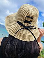 Недорогие -Жен. Праздник Соломенная шляпа - Перекрещивание Контрастных цветов