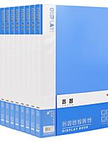 Недорогие -10 pcs M&G ADMN4166 Папки файлов A4 PP Прозрачный Custom Label Влагоотталкивающий