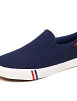Недорогие -Муж. Комфортная обувь Полотно Весна & осень Мокасины и Свитер Белый / Черный / Синий