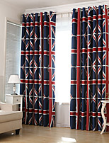 Недорогие -европейский Солнцезащитные 2 шторы Гостиная   Curtains