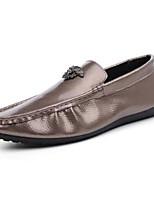 Недорогие -Муж. Комфортная обувь Искусственная кожа Осень Мокасины и Свитер Золотой / Черный