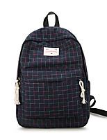 Недорогие -Жен. Мешки холст рюкзак Молнии Белый / Красный / Темно-синий