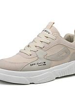 Недорогие -Муж. Комфортная обувь Синтетика Весна & осень На каждый день Кеды Белый / Черный / Бежевый