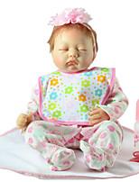 Недорогие -FeelWind Куклы реборн Кукла для девочек Мальчики Девочки 22 дюймовый Силикон Винил - как живой Ручная Pабота Очаровательный Дети / подростки Нетоксично Детские Универсальные Игрушки Подарок