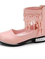 Недорогие -Девочки Обувь Искусственная кожа Весна Удобная обувь / Крошечные Каблуки для подростков Обувь на каблуках для Для подростков Белый / Черный / Розовый