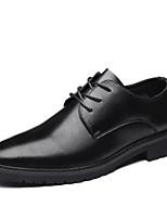 Недорогие -Муж. Официальная обувь Полиуретан Весна & осень Мокасины и Свитер Черный