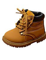 Недорогие -Мальчики / Девочки Обувь Полиуретан Наступила зима Удобная обувь / Армейские ботинки Ботинки для Дети Черный / Желтый / Коричневый