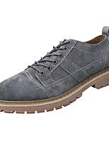 Недорогие -Муж. Комфортная обувь Свиная кожа Осень Туфли на шнуровке Серый / Желтый / Зеленый