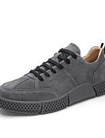 Недорогие -Муж. Комфортная обувь Свиная кожа Весна Кеды Черный / Серый / Хаки