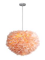 Недорогие -3-Light Фонариком Подвесные лампы Рассеянное освещение Металл Ткань Новый дизайн 110-120Вольт / 220-240Вольт