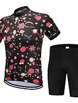 Недорогие -FirtySnow Муж. С короткими рукавами Велокофты и велошорты - Розовый Цветочные / ботанический Велоспорт Наборы одежды Дышащий Быстровысыхающий Виды спорта Полиэстер Цветочные / ботанический