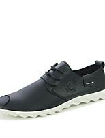 Недорогие -Муж. Комфортная обувь Полиуретан Весна Туфли на шнуровке Белый / Черный / Желтый