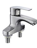 Недорогие -Ванная раковина кран - Широко распространенный Нержавеющая сталь Другое Одной ручкой Два отверстияBath Taps