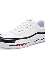 Недорогие -Муж. Вулканизованная обувь Полиуретан Весна лето На каждый день Кеды Беговая обувь Нескользкий Белый / Черный / Красный