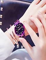 Недорогие -Жен. Нарядные часы Кварцевый Черный / Синий / Фиолетовый Новый дизайн Аналоговый На каждый день Мода - Лиловый Синий Розовое золото