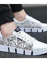 Недорогие -Муж. Комфортная обувь Полотно Весна Кеды Белый / Черный