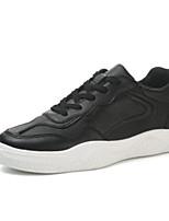 Недорогие -Муж. Комфортная обувь Микроволокно Весна & осень Кеды Белый / Черный