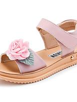 Недорогие -Девочки Обувь Кожа Лето Удобная обувь Сандалии для Для подростков Розовый / Светло-синий
